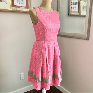 Jessica Simpson Pink Tan Lace Sleeveless Dress 4